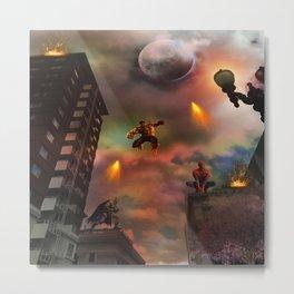 Super Hero Showdown Metal Print