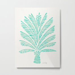 Palm Tree – Mint Palette Metal Print