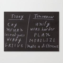 Today/Tomorrow Canvas Print