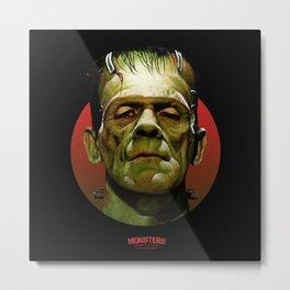 Frankenstein - Scary Movies Metal Print