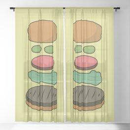 Bob's Burgers Hamburger Parts Sheer Curtain