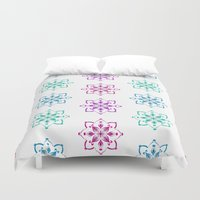 florence Duvet Covers featuring Florence - multicolor by Lisa Argyropoulos