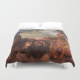 Two Llamas Duvet Cover