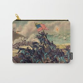 African American Civil War Troops Storming Fort Wagner Landscape Carry-All Pouch
