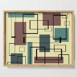 Mid Century Modern Rectangles Serving Tray