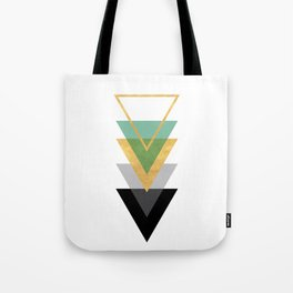 FIVE GEOMETRIC ABSTRACT HOLLOW PYRAMIDS TRIANGLE Tote Bag