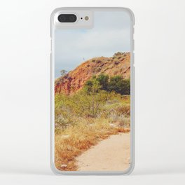 Sandy Trail Clear iPhone Case