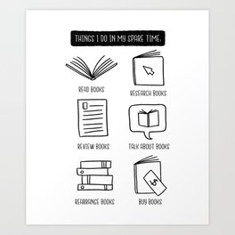 Books lover Art Print