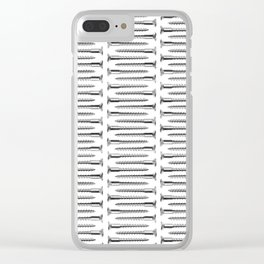 Silver Screws Texture Poster Clear iPhone Case