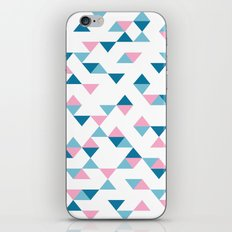 Triangles Blue and Pink iPhone & iPod Skin