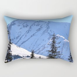 Back-Country Skiing  - V Rectangular Pillow