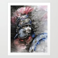 gladiator Art Prints featuring Gladiator by Tania Richard