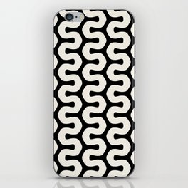 Black & White Geometric Pattern Tribal African Wiggly Lines Cultural Style Funky Cool iPhone Skin