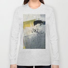 Mellow Yellow Texture Collage Long Sleeve T-shirt