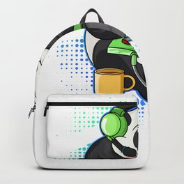 Cute Gaming Panda Video Game Gamer Gift Backpack