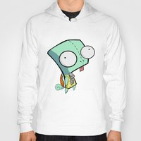 squirtle Hoodies featuring GIR Squirtle  by Diffro