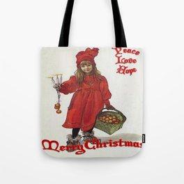 Peace, Love and Hope at Christmas Tote Bag