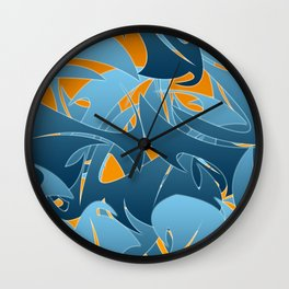 Tropical Abstract Mayhem Wall Clock