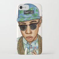 tyler the creator iPhone & iPod Cases featuring Tyler, The Creator by Daniel Cash