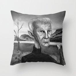 Samuel Beckett Throw Pillow