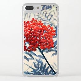 Rowan Berries Clear iPhone Case