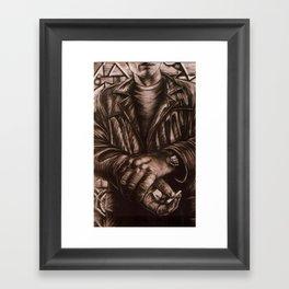 NY SMOKER Framed Art Print