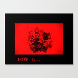 Passion. LOVE  is ...Collection Canvas Print