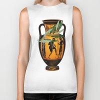 greek Biker Tanks featuring Ancient Greek by Fifikoussout