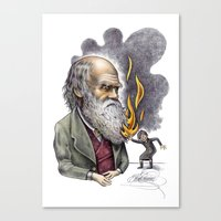 darwin Canvas Prints featuring Darwin by ElenaTerrin