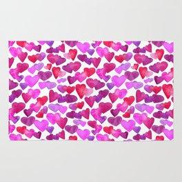 Valentine Day  romantic hearts Rug