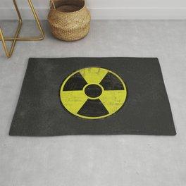 Grunge Radioactive Sign Rug