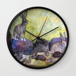 Jack's Family by Maureen Donovan Wall Clock