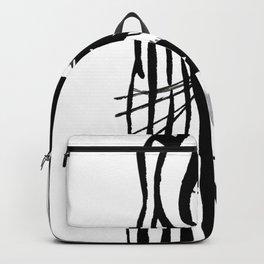 Black and white zebra Backpack