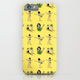 BROAD CITY ART MODEL WEED Censorship (yellow pattern) iPhone Case