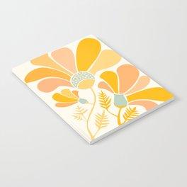 Summer Wildflowers in Golden Yellow Notebook
