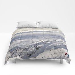 Snowy landscape Comforters