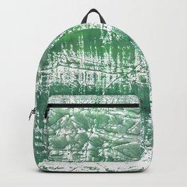 Sea green blurred watercolor pattern Backpack