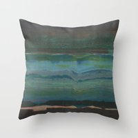 tchmo Throw Pillows featuring Untitled 20140915a (The Explorers) by tchmo