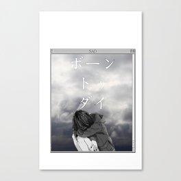 BORN TO DIE - Sad Anime Japanese Aesthetic Canvas Print