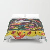 potato Duvet Covers featuring Frida Potato by cristenhoyt