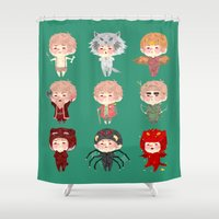 the hobbit Shower Curtains featuring The hobbit - Bilbo by NON6