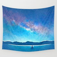 northern lights Wall Tapestries featuring Northern Lights by Acacia Alaska