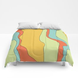 Curly lines of colour pattern Comforters