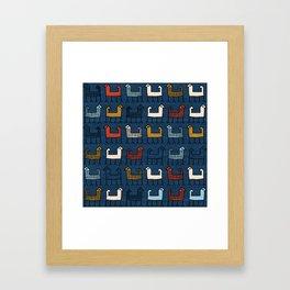 Zagros in Blue Framed Art Print