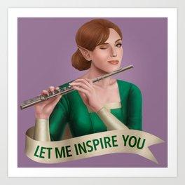 Bard: Let Me Inspire You Art Print