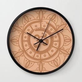 Ohm Mandala - Orange Wall Clock