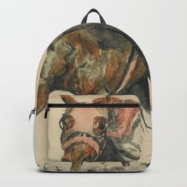 Racehorse Watercolor Backpack