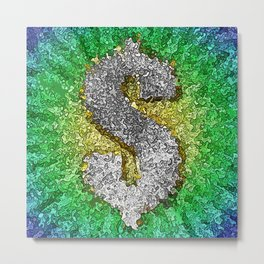Dollar Sign Pop Art Metal Print