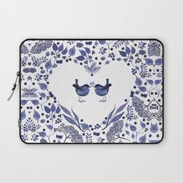 BLUE BIRDS WATERCOLOR - THE GIFT - INDIGO Laptop Sleeve