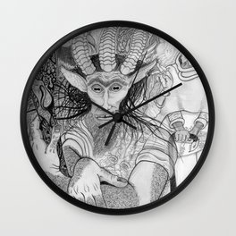 """Eh?"" ~ The Satyr Oarsman At Market Wall Clock"